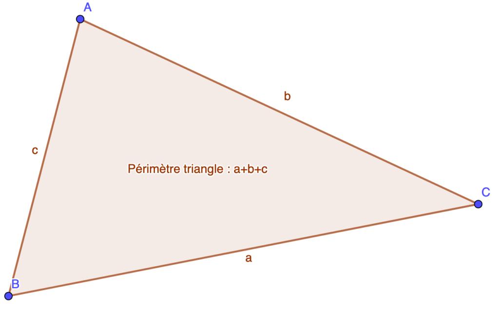 Formule de calcul du périmètre d'un triangle
